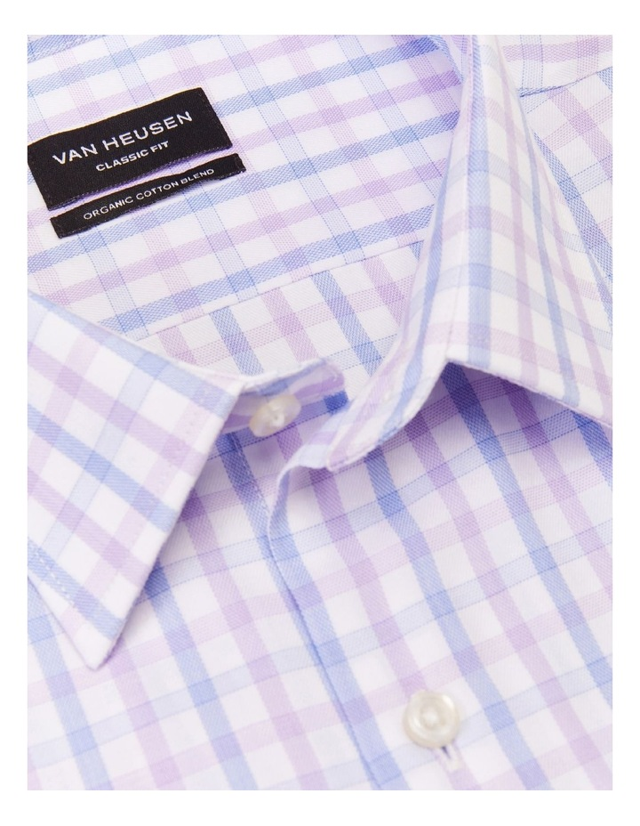 Classic Two Colour Mid Check Shirt Purple image 2
