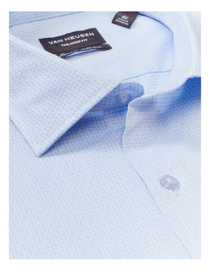 Tailored Long Sleeve Diamond Dobby Shirt Blue image 2