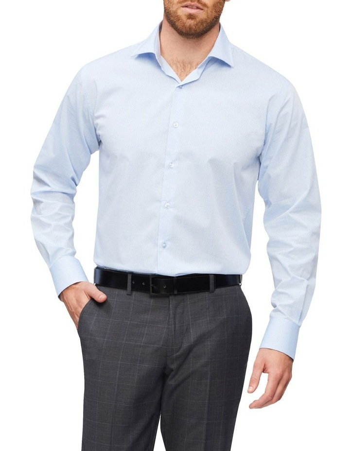 Slim Organic Cotton Pinstripe Shirt Blue image 1