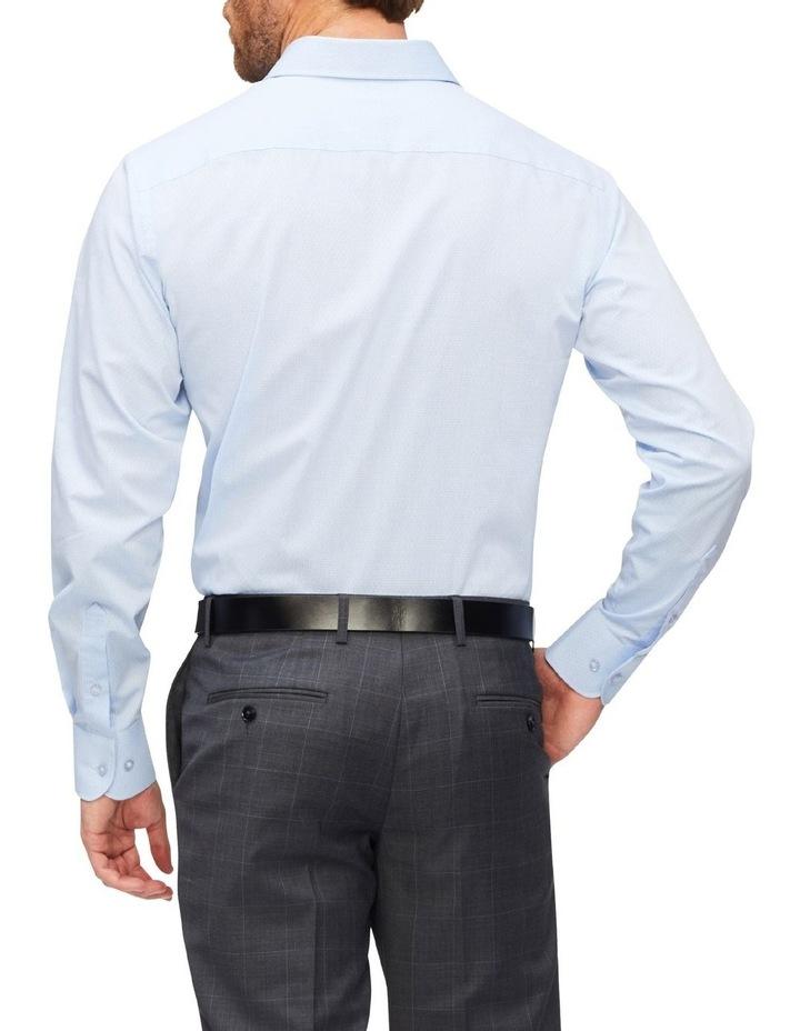 Slim Organic Cotton Pinstripe Shirt Blue image 3