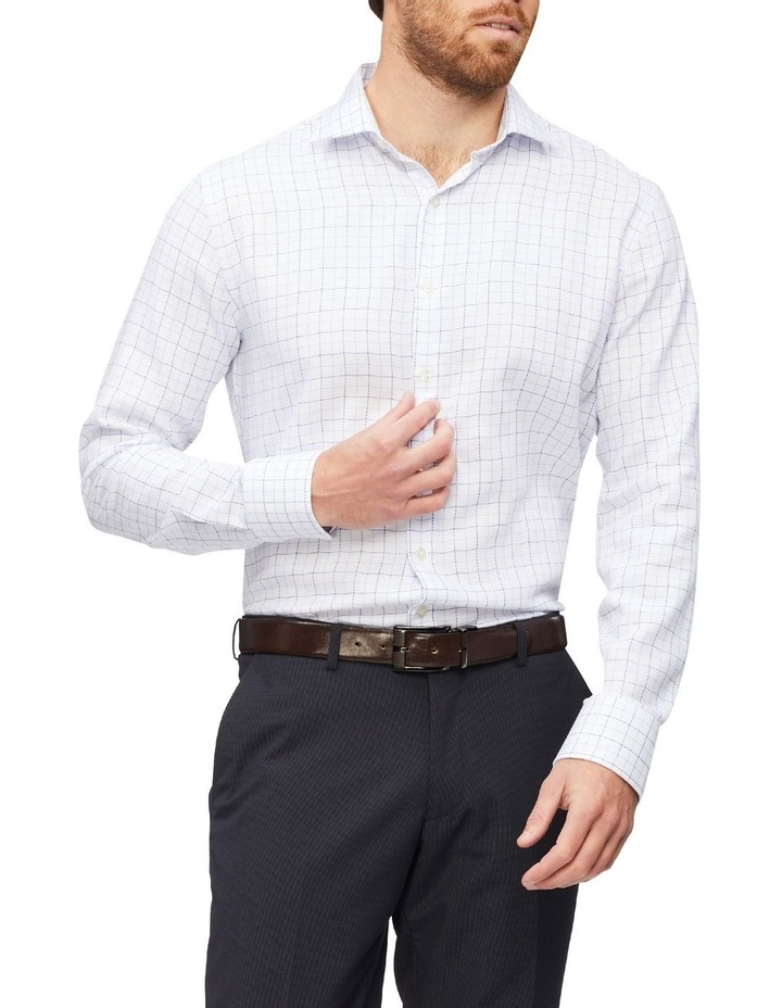Slim Organic Cotton Twill Check Shirt Blue image 1