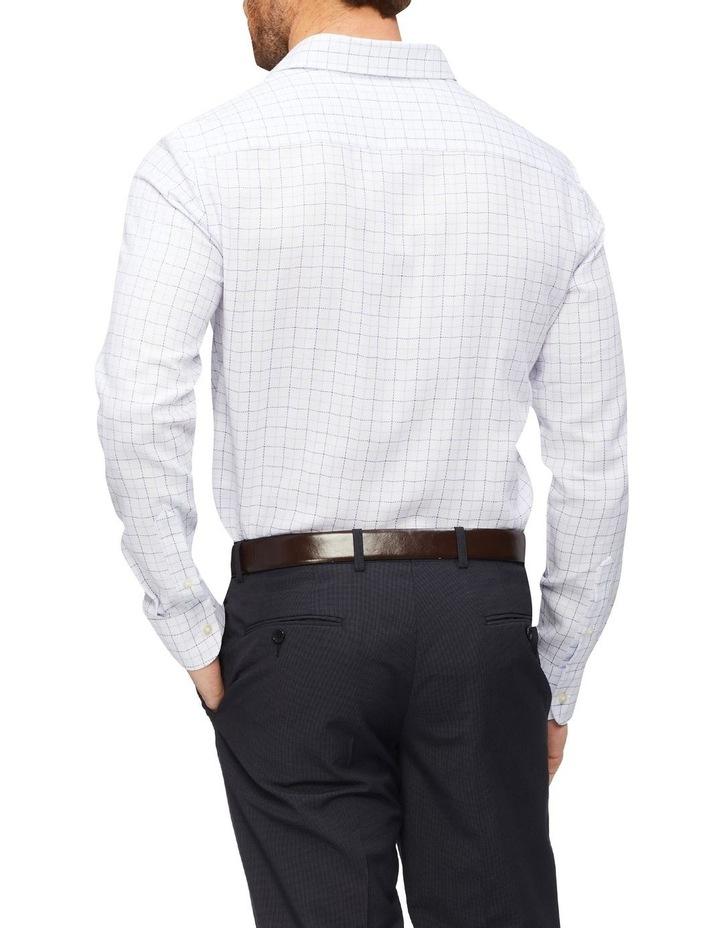 Slim Organic Cotton Twill Check Shirt Blue image 3
