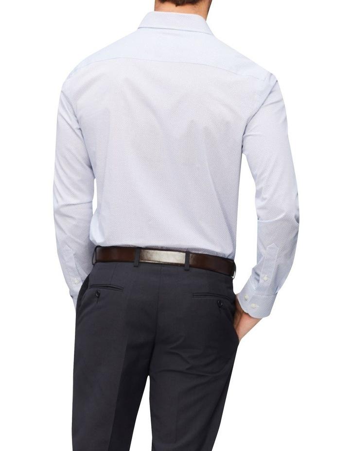 Slim Diamond Print Shirt Blue image 3