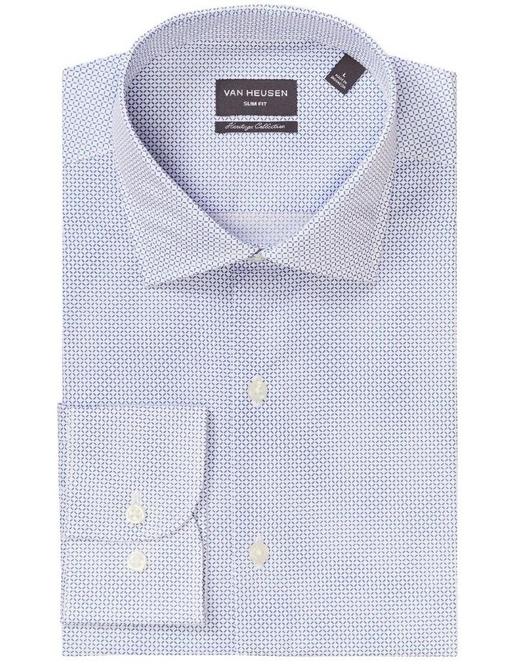 Slim Diamond Print Shirt Blue image 4