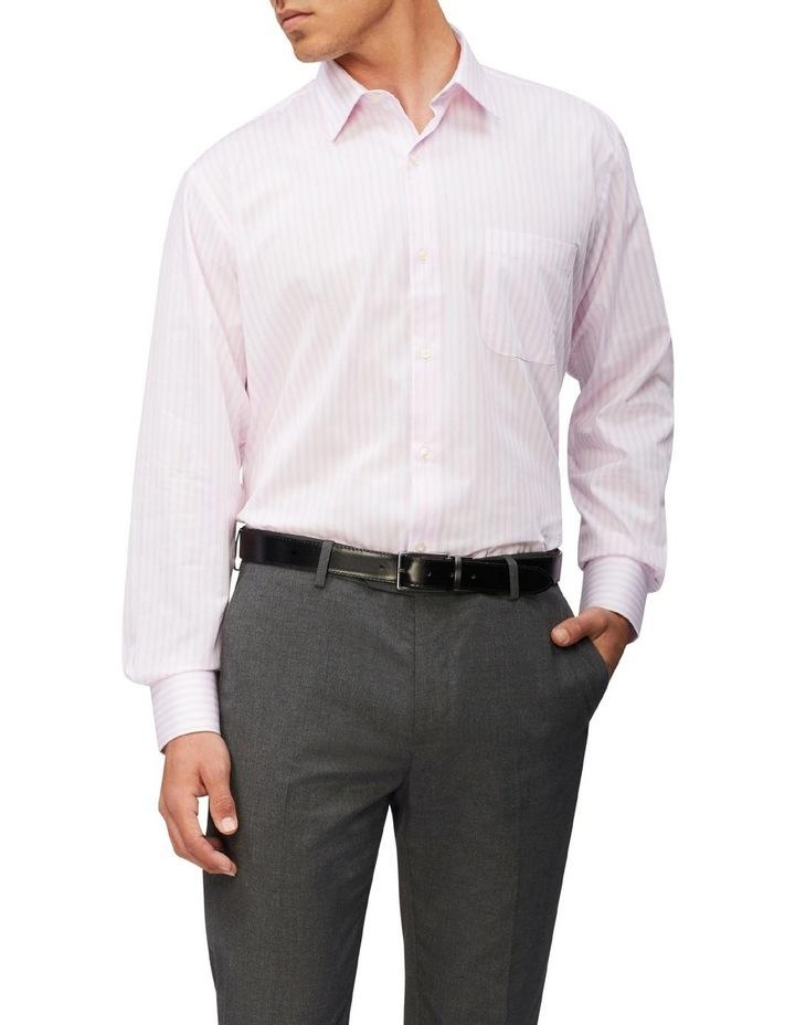Classic Fit Organic Cotton Pinstripe Shirt Pink image 1