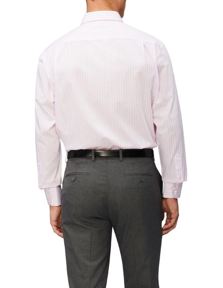 Classic Fit Organic Cotton Pinstripe Shirt Pink image 2