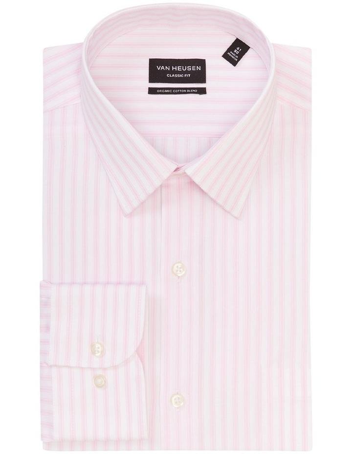 Classic Fit Organic Cotton Pinstripe Shirt Pink image 3
