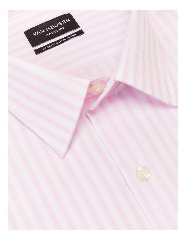 Classic Fit Organic Cotton Pinstripe Shirt Pink image 4