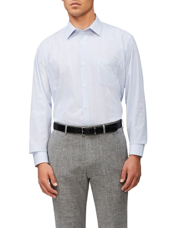 Classic Fit Diamond Print Shirt Blue image 1