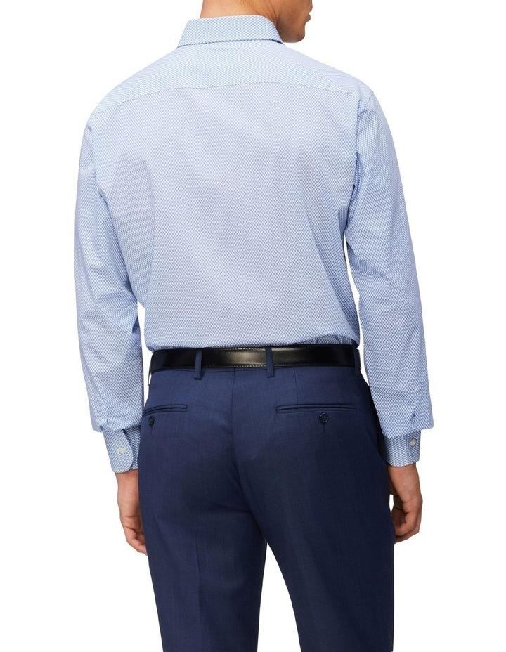 Tailored Long Sleeve Diamond Print Shirt Blue image 2