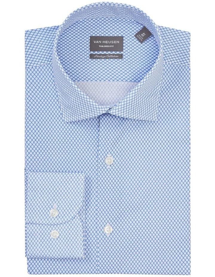 Tailored Long Sleeve Diamond Print Shirt Blue image 3
