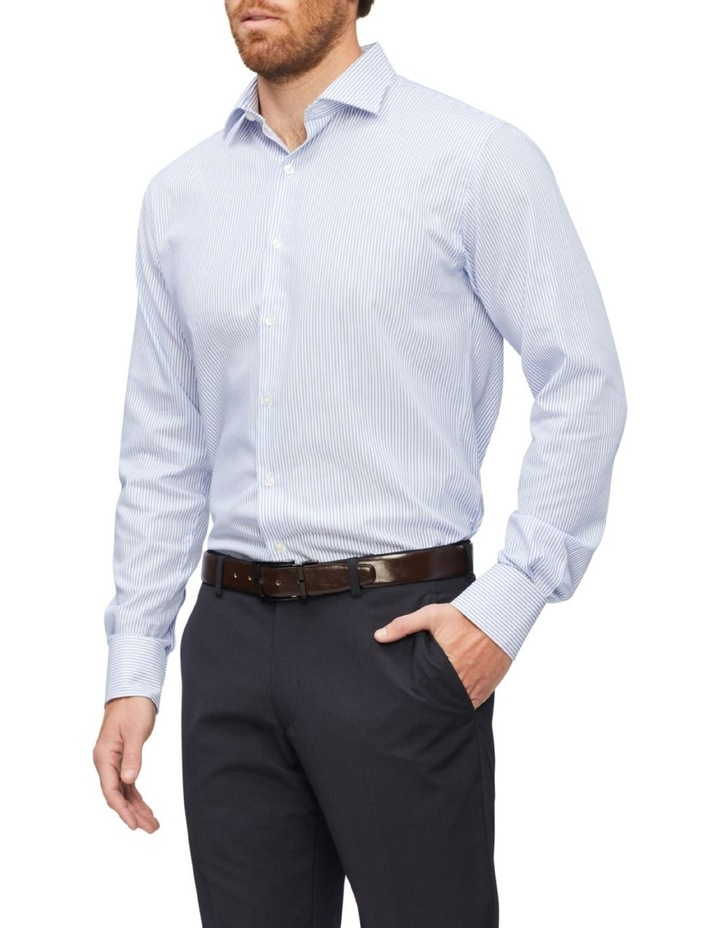 Tailored Pinstripe Shirt Stripe Shirt Blue image 1