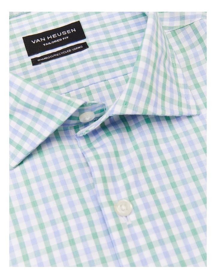 Wash N Wear Check Shirt Green image 3