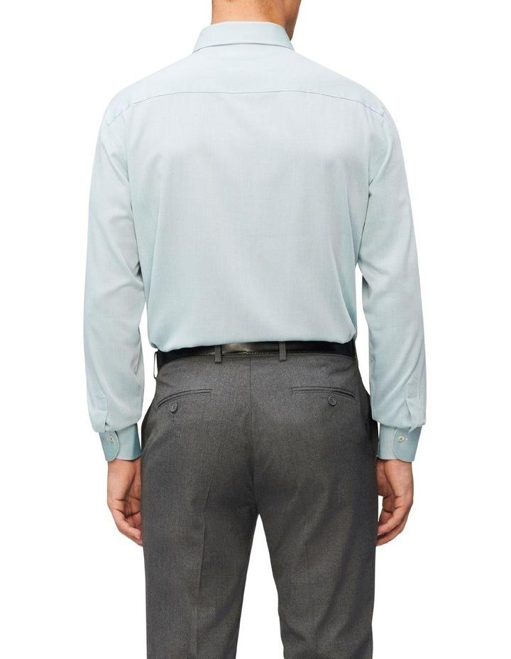 Slim Fit Wash N Wear Dobby Shirt Green image 2