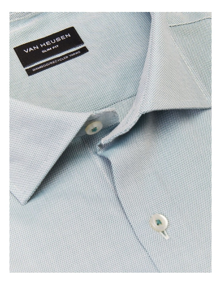 Slim Fit Wash N Wear Dobby Shirt Green image 4