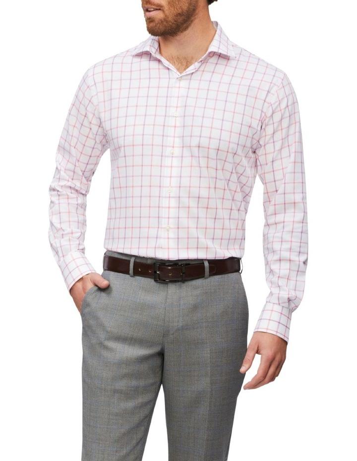 Tailored Long Sleeve 2 Colour Jumbo Check Shirt Pink image 1