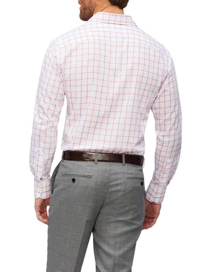 Tailored Long Sleeve 2 Colour Jumbo Check Shirt Pink image 2