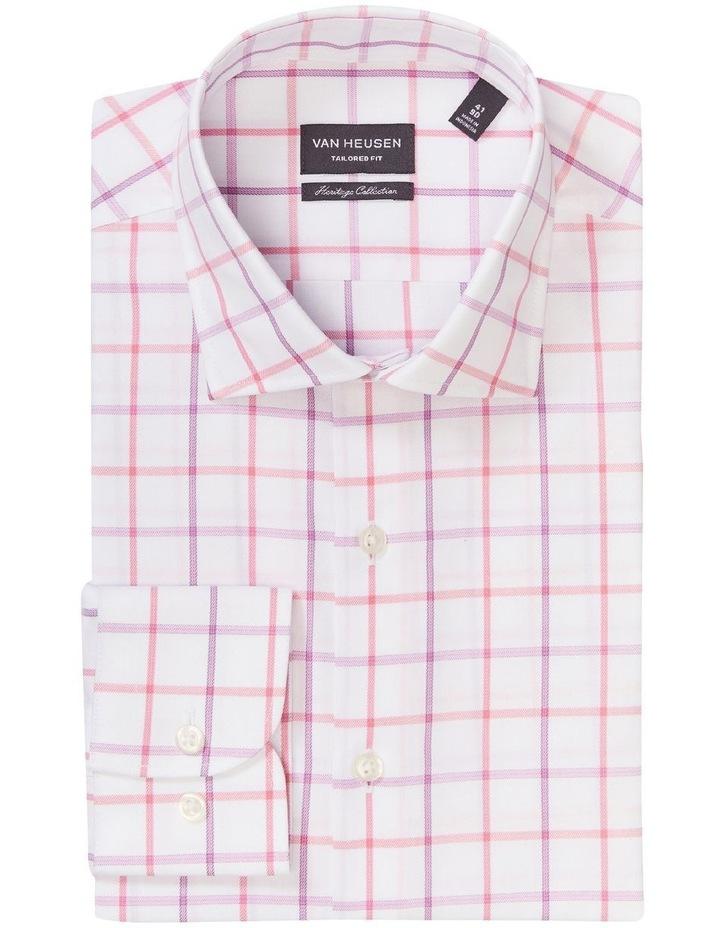 Tailored Long Sleeve 2 Colour Jumbo Check Shirt Pink image 3