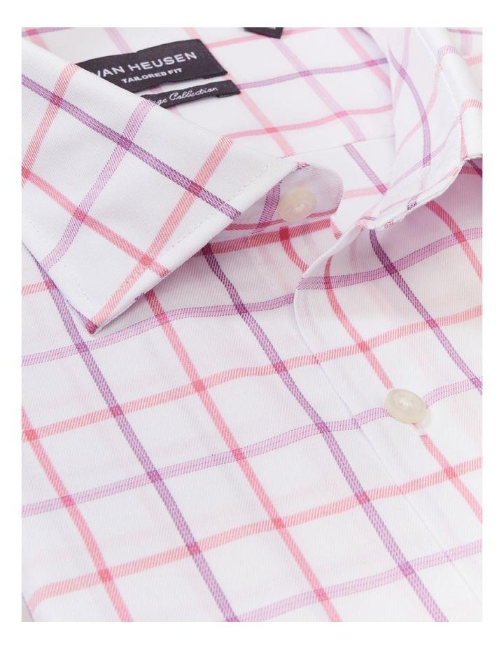 Tailored Long Sleeve 2 Colour Jumbo Check Shirt Pink image 4