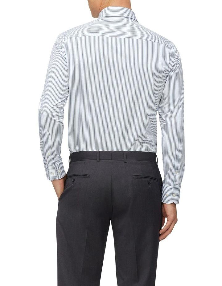 Slim Fit Wash N Wear Twin Stripe Shirt Green image 2
