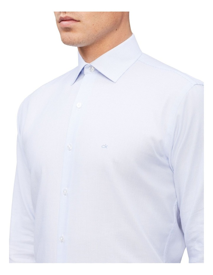 Slim Long Sleeve Dobby Houndstooth Shirt image 2