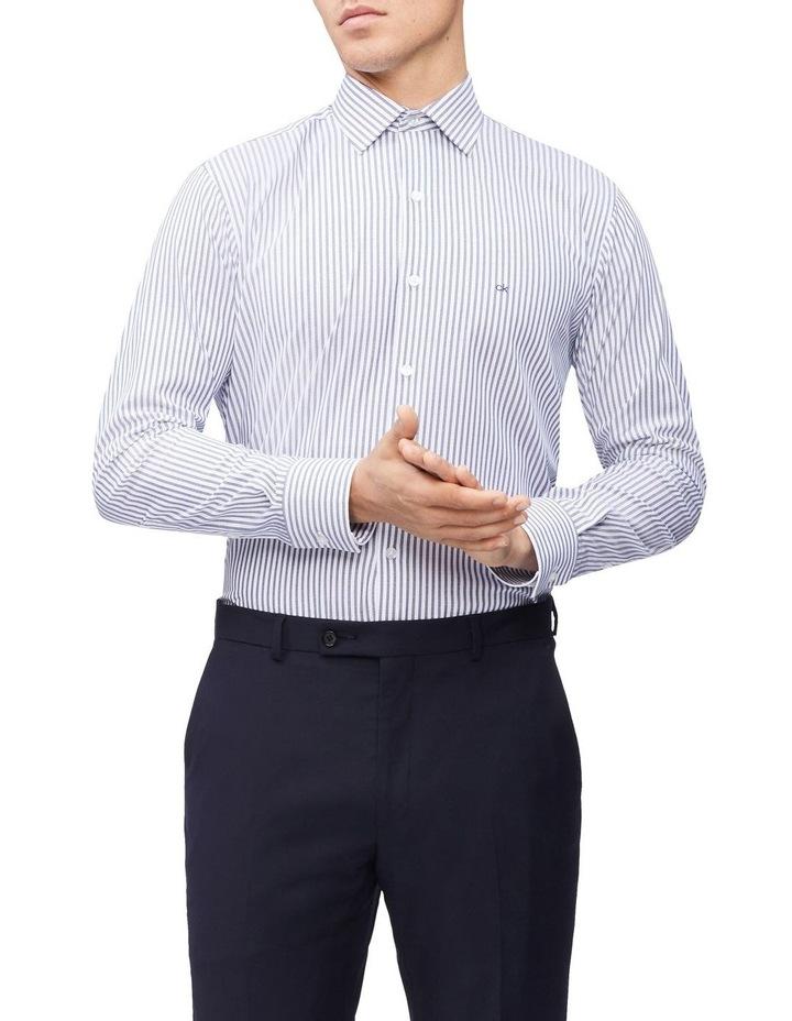 Slim Long Sleeve Candy Stripe Shirt Blue image 1