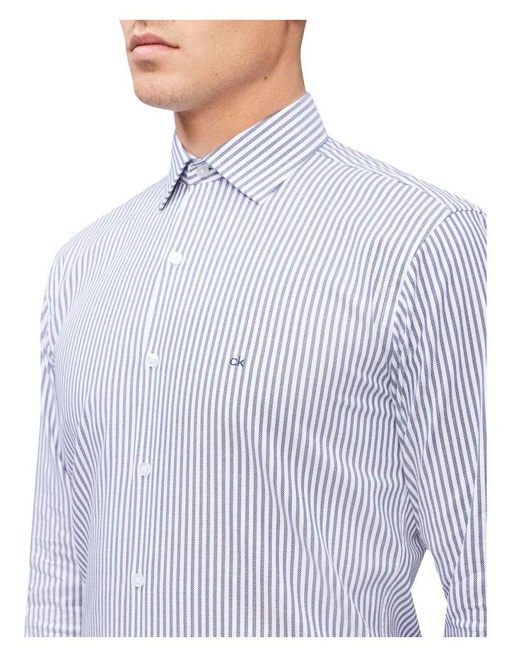 Slim Long Sleeve Candy Stripe Shirt Blue image 2