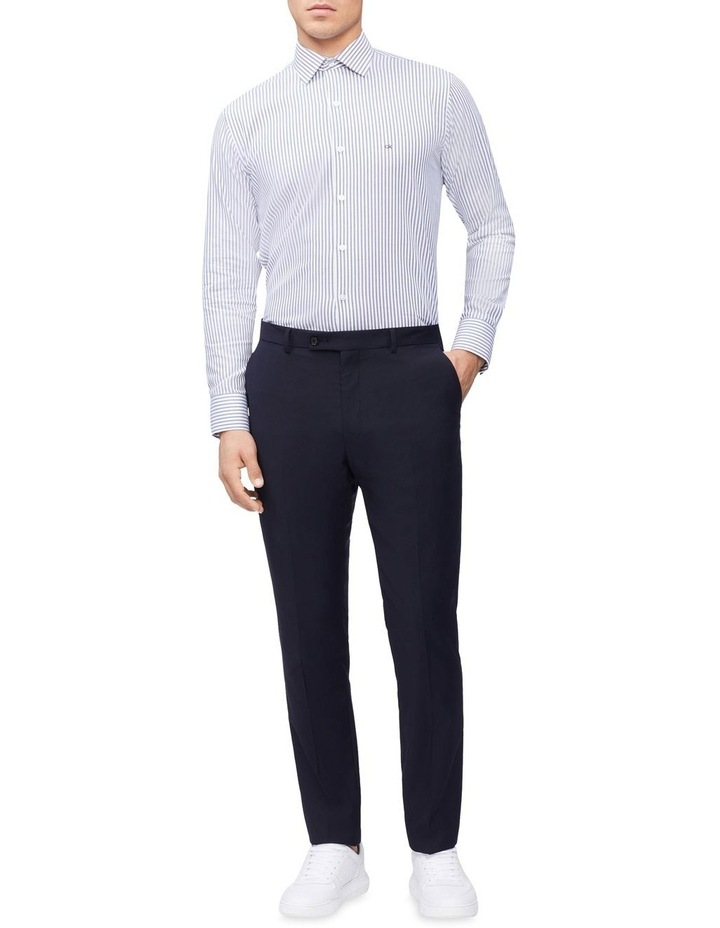 Slim Long Sleeve Candy Stripe Shirt Blue image 3