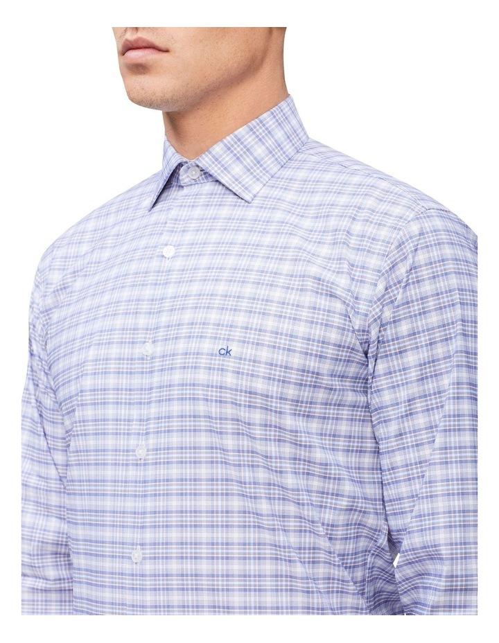 Slim Long Sleeve 3 Colour Check Shirt Blue image 2