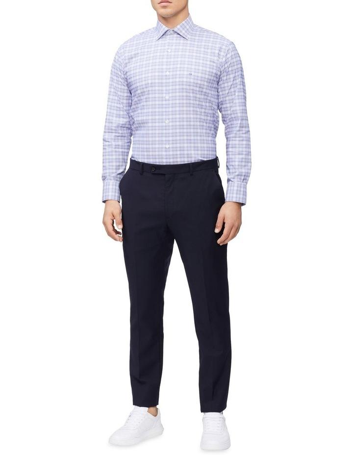 Slim Long Sleeve 3 Colour Check Shirt Blue image 3