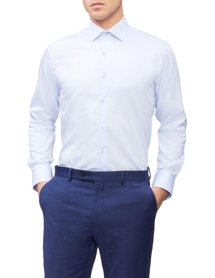 Slim Long Sleeve Twill Shirt Blue image 1