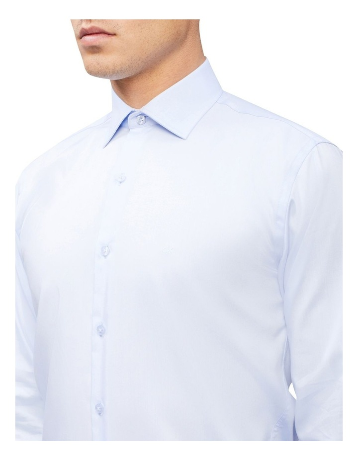 Slim Long Sleeve Twill Shirt Blue image 3