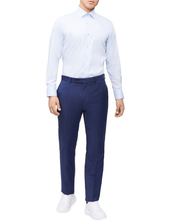 Slim Long Sleeve Twill Shirt Blue image 4