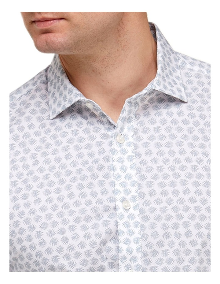 Leaf Print Reg Fit Business Shirt image 2