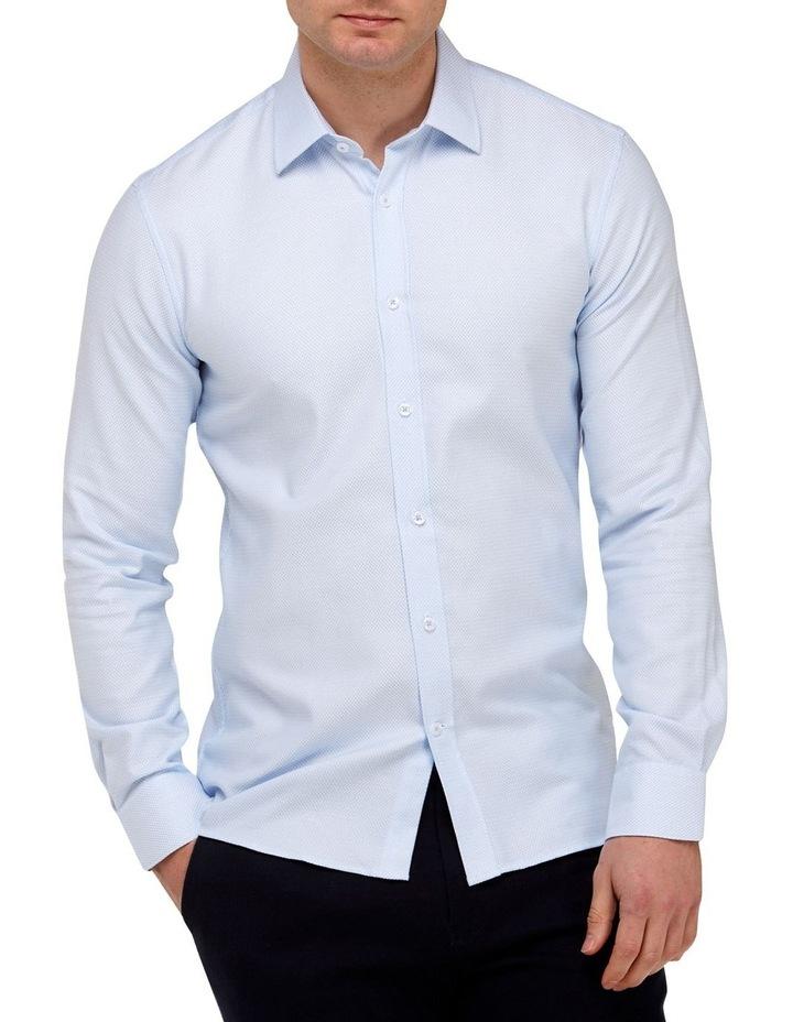 Micro Textured  Slim Fit Dress Shirt image 1
