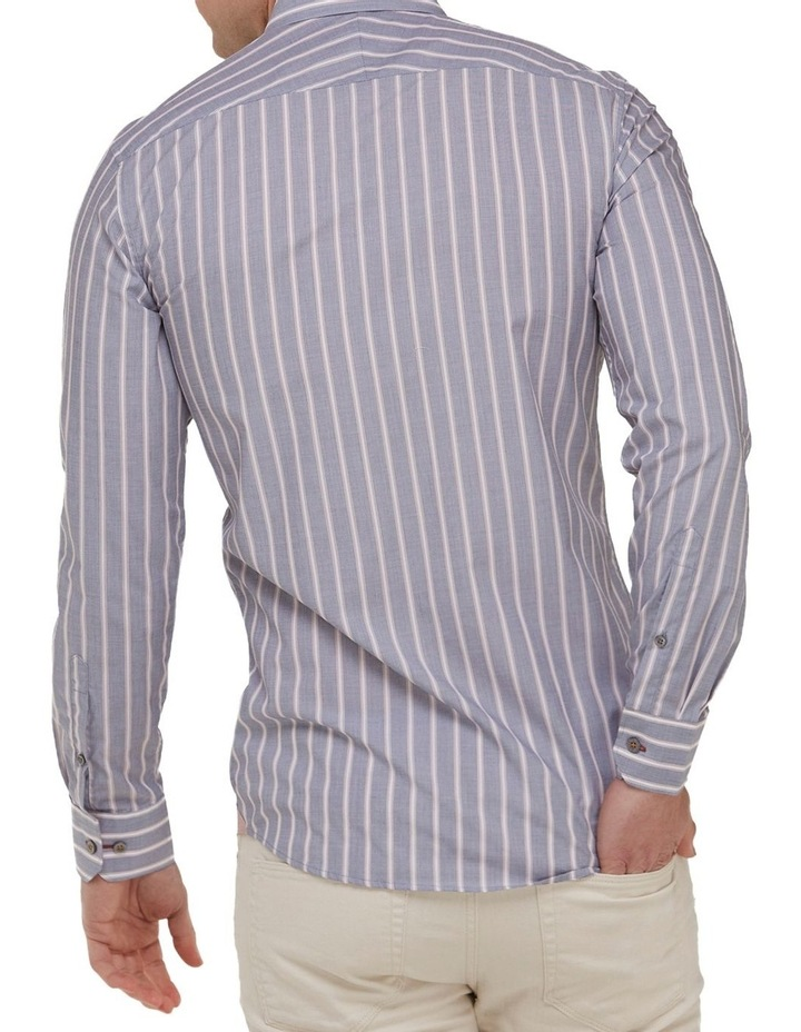 Vertical Stripe Slim Fit Dress Shirt image 3