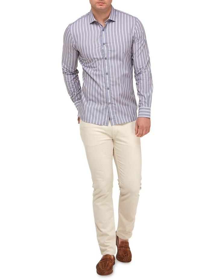 Vertical Stripe Slim Fit Dress Shirt image 4
