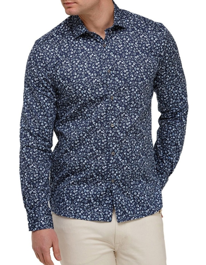 Abstract Floral Print Slim Fit Dress Shirt image 1