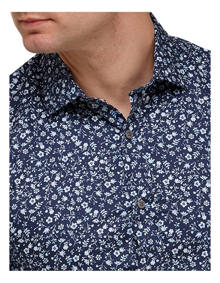 Abstract Floral Print Slim Fit Dress Shirt image 2