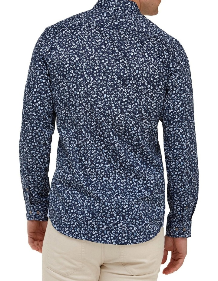 Abstract Floral Print Slim Fit Dress Shirt image 3