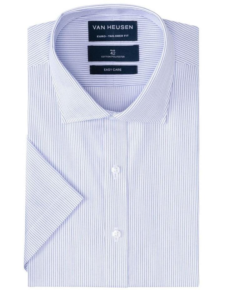 Blue Check Short Sleeve Business Shirt image 1