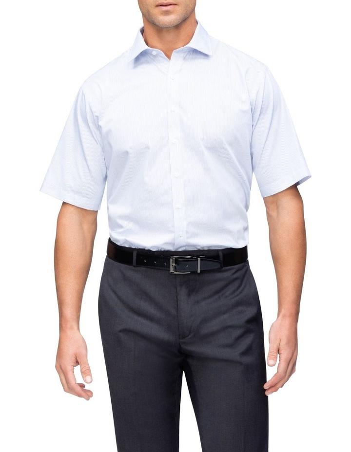 Blue Check Short Sleeve Business Shirt image 2