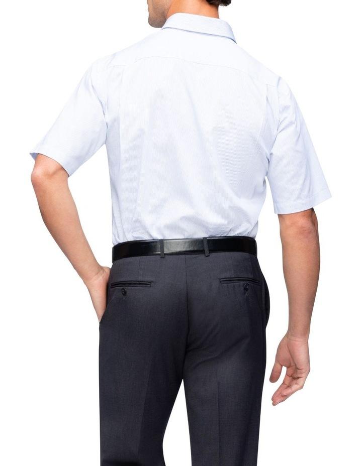 Blue Check Short Sleeve Business Shirt image 3