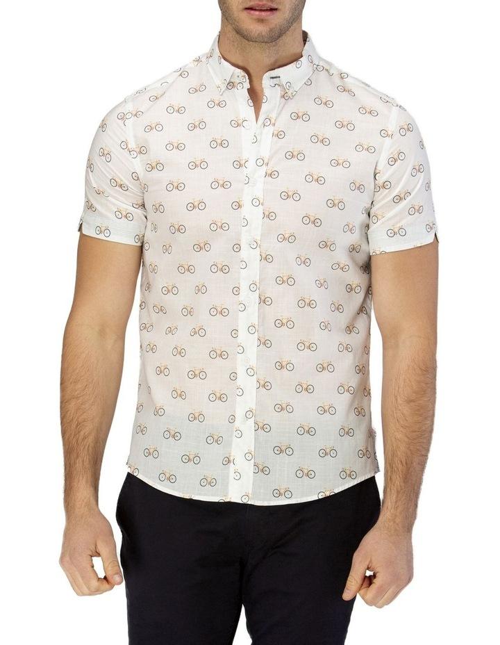Bicycle Print Short Sleeve Casual Shirt image 1