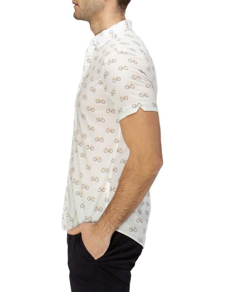 Bicycle Print Short Sleeve Casual Shirt image 2