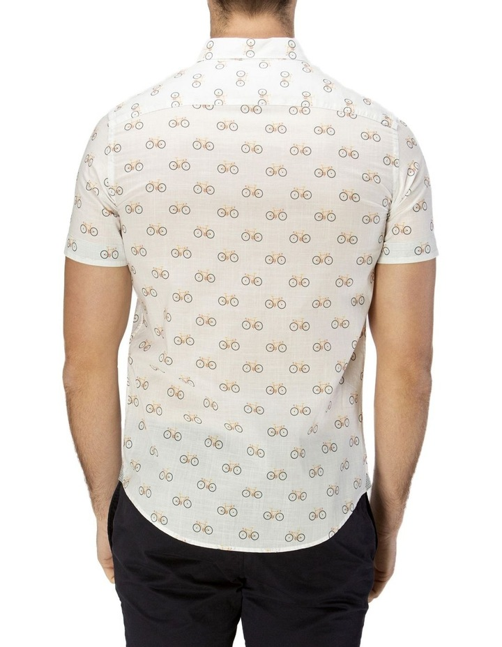 Bicycle Print Short Sleeve Casual Shirt image 3