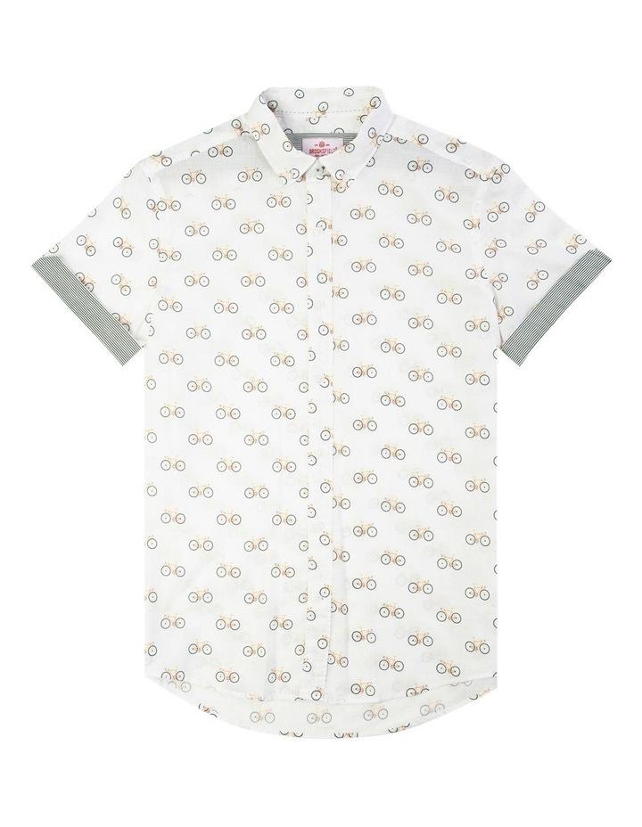 Bicycle Print Short Sleeve Casual Shirt image 4