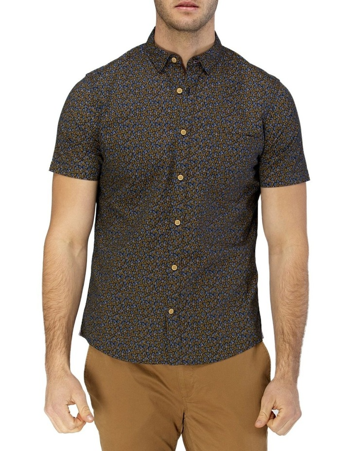 Leaf Print Short Sleeve Casual Shirt image 1