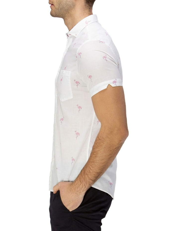 Flamingo Print Short Sleeve Casual Shirt image 2