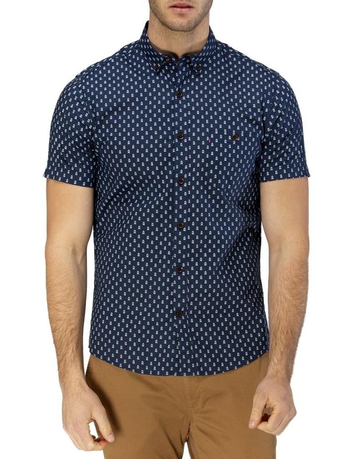 Train Print Short Sleeve Casual Shirt image 1